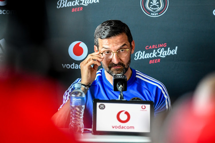 Orlando Pirates coach Josef Zinnbauer. Picture: GALLO IMAGES/ SYDNEY SESHIBEDI