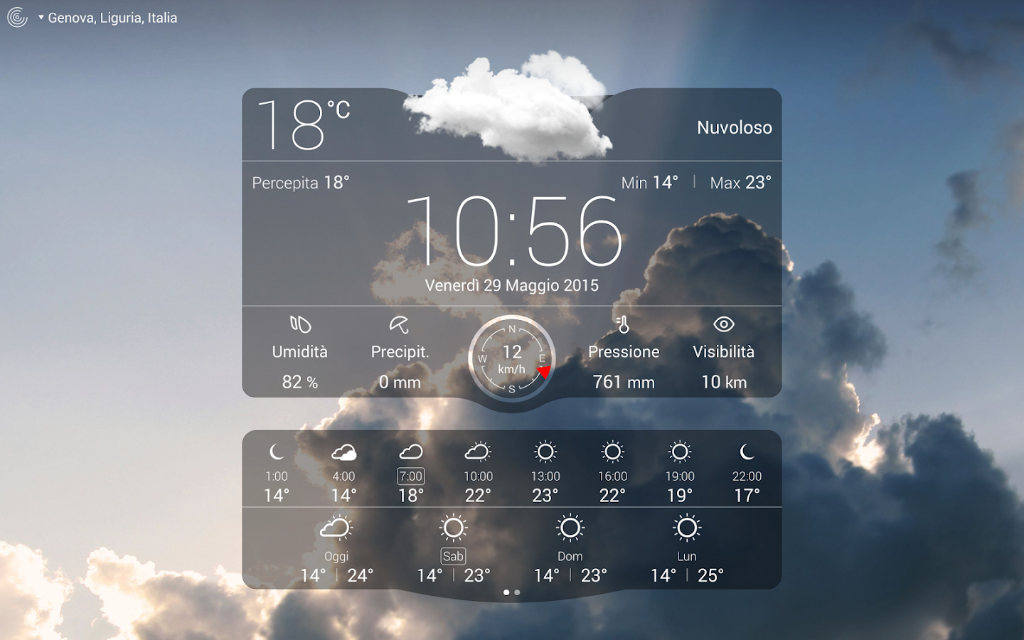 Meteo Live- screenshot