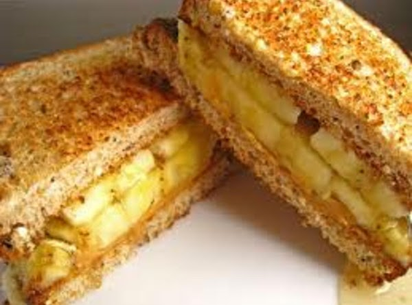 Peanut butter and banana: spread peanut butter on bread or toast. Slice banana lengthwise...