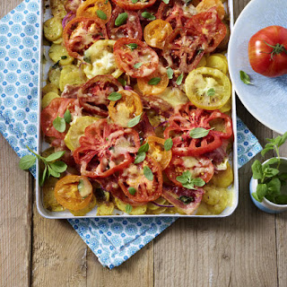 Potato, Tomato and Bacon Bake