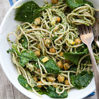 PRESERVED LEMON + CHICKPEA PASTA WITH PARSLEY PESTO