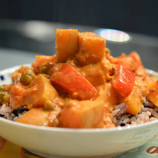 Vegan Curry With Butternut Squash.