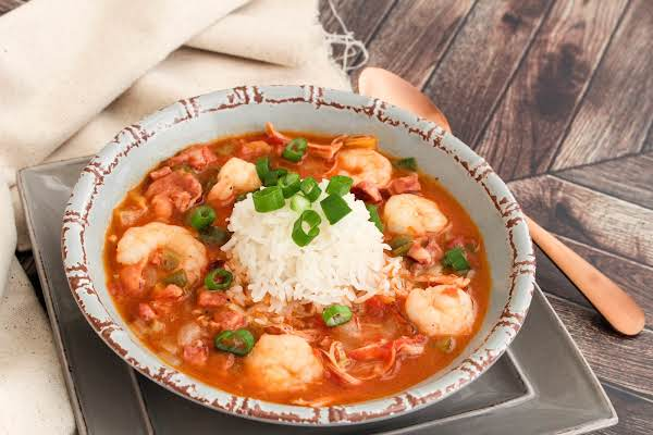 A Bowl Of Holy Trinity Jambalaya Stew.