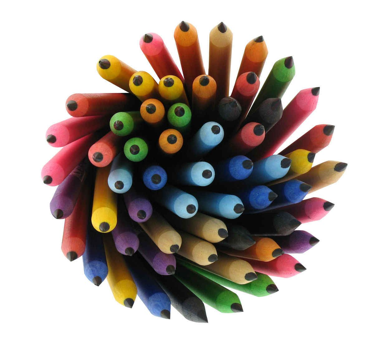 Pencils made from Recycled CD Cases