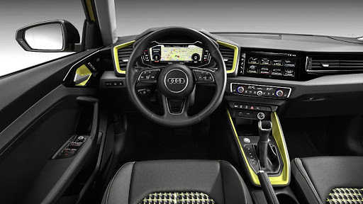 The interior features the Polo dashboard architecture but with plenty of Audi touches. Picture: NEWSPRESS UK