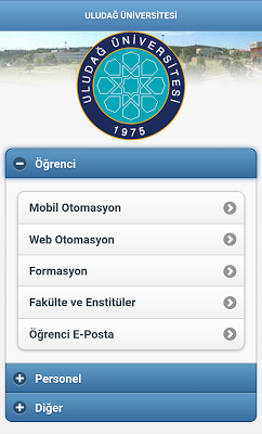 ULUDAĞ UNIVERSITY - screenshot