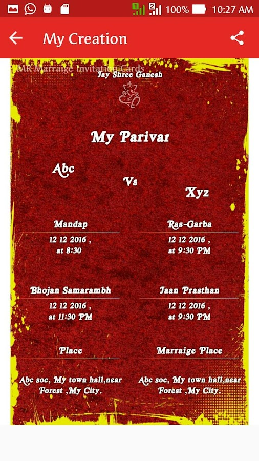 MR Marriage Invitation Cards Android Apps on Google Play – Marraige Invitation Cards
