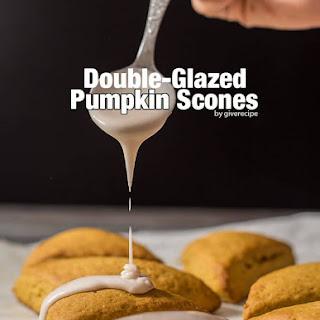 Double-Glazed Pumpkin Scones.