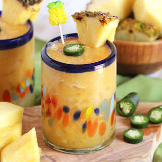 Spicy Roasted Pineapple Margarita.
