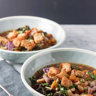 Ribbolita Soup + Homemade Croutons (vegan)