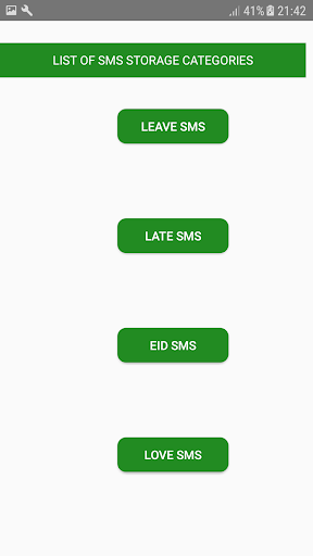 SMS Storage screenshot 2