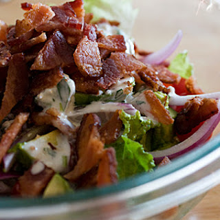 BLT Salad with Avocado and Blue Cheese Dressing