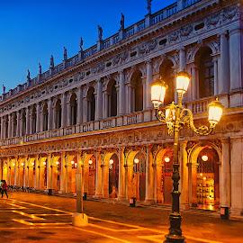 Venise - Les Procuraties by Gérard CHATENET - City,  Street & Park  Historic Districts