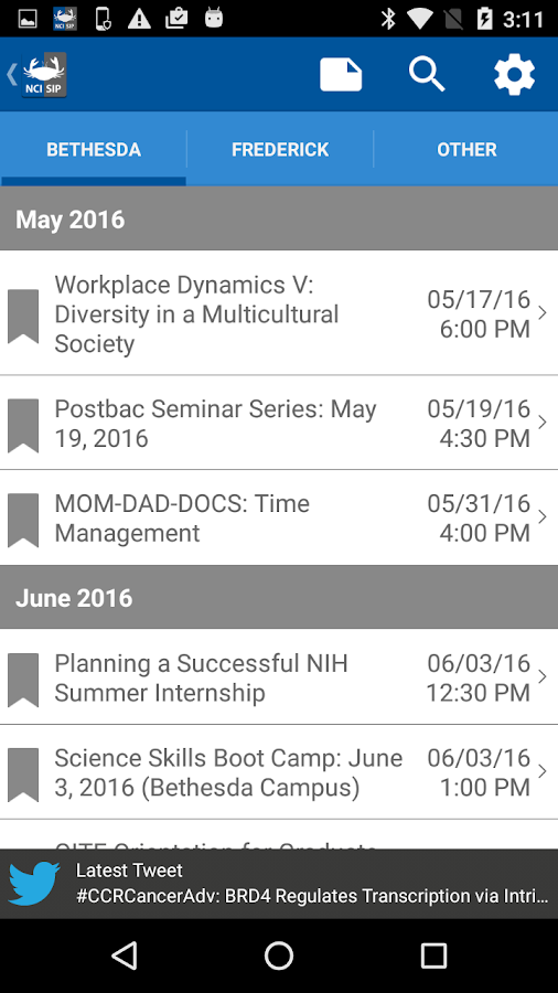 NCI@NIH Summer Internship Prgm- screenshot