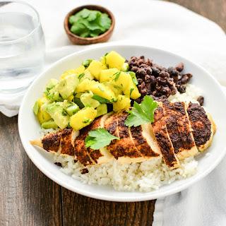Jerk-Seasoned Chicken and Caribbean Rice Bowls