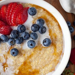 Amaranth, Quinoa, and Polenta Porridge