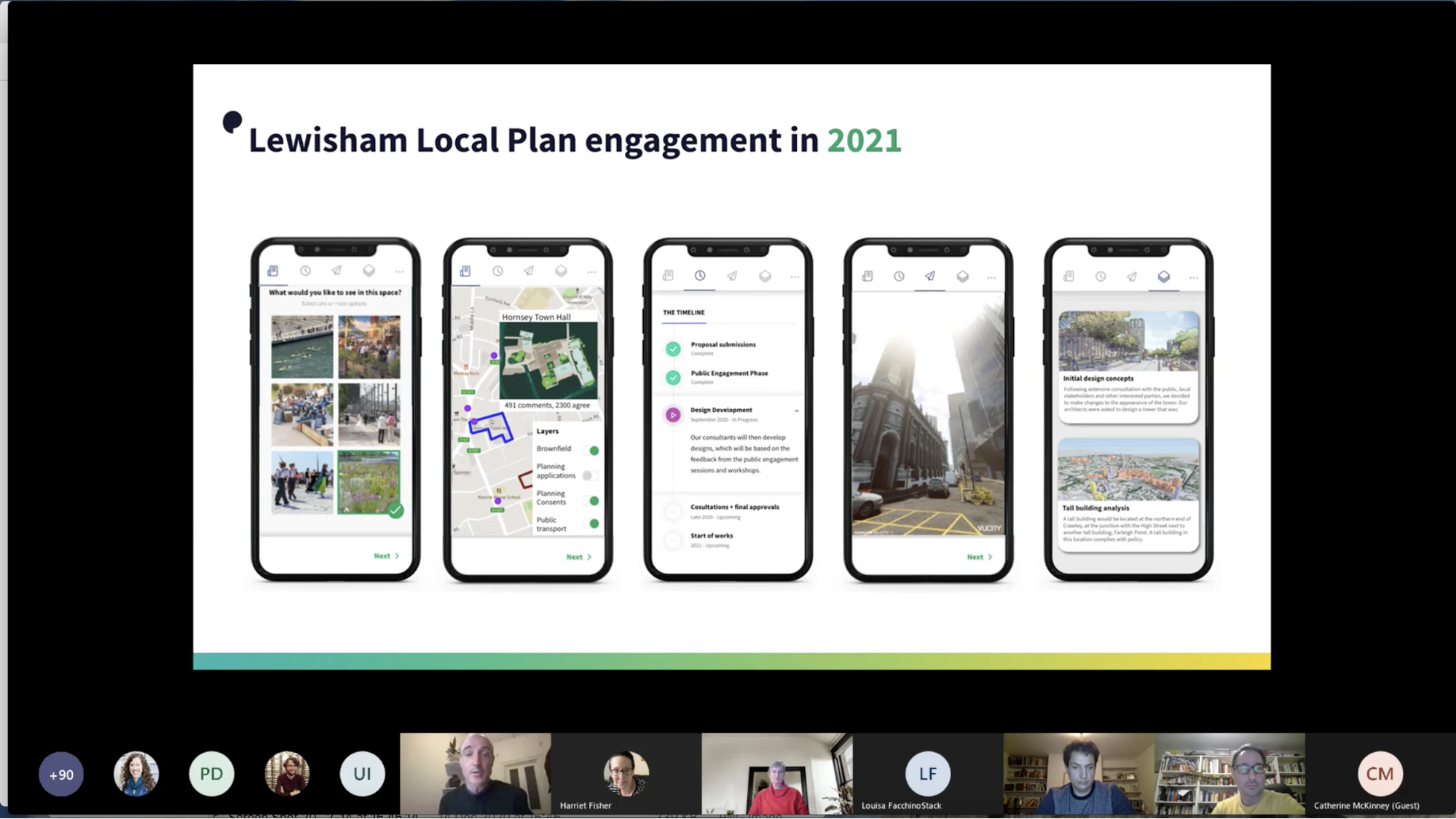 Screenshot of the PropTech event video call