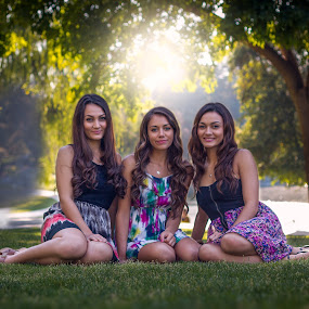Beautiful Sisters by Apollo Reyes - People Portraits of Women ( sisters, park, sunny, beautiful, summer, pretty,  )