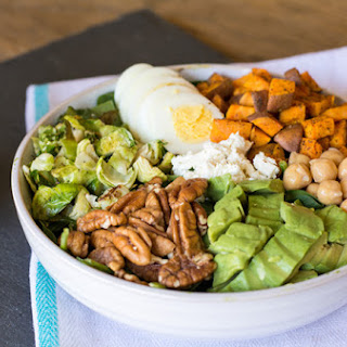 Green Power Salad with Roasted Veggies