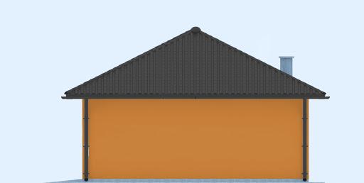 G246 - Budynek rekreacji indywidualnej - Elewacja tylna