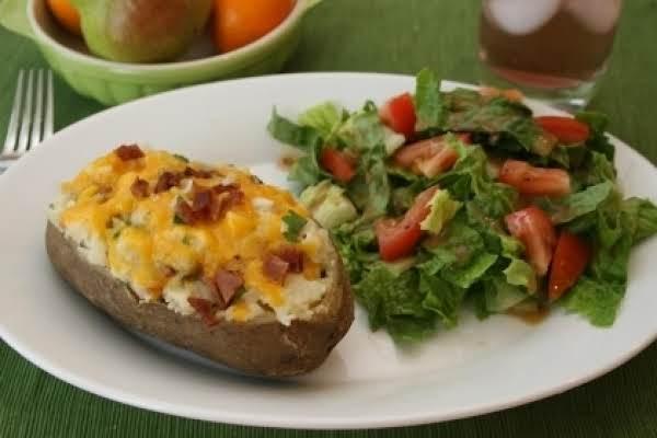 Greek-style Twice Baked Potato W/ Feta & Rosemary