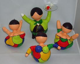 """Photo: """"Kerst Bengeltjes""""  (felle kleuren) en """"Kerst Butler"""" (groen)"""