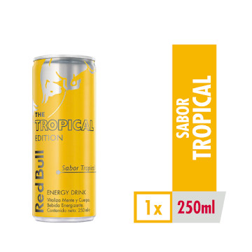 //Bebida Energizante Red   Bull Tropical x 250Ml