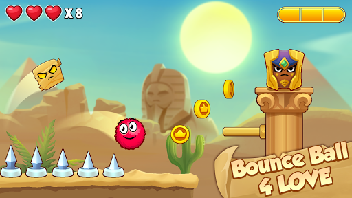 Bounce Ball 4 Love and Red Roller Ball 3 android2mod screenshots 4