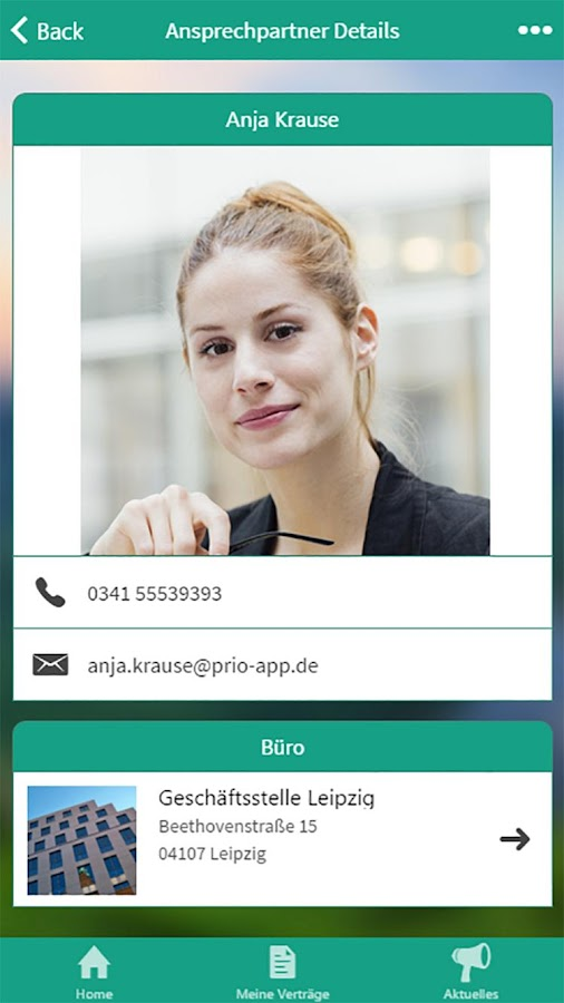 Prio-App – Screenshot