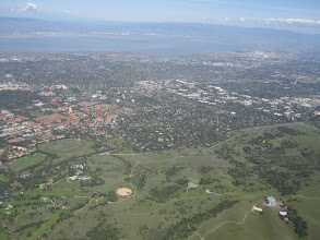 Photo: Stanford on the left, THE DISH on the right