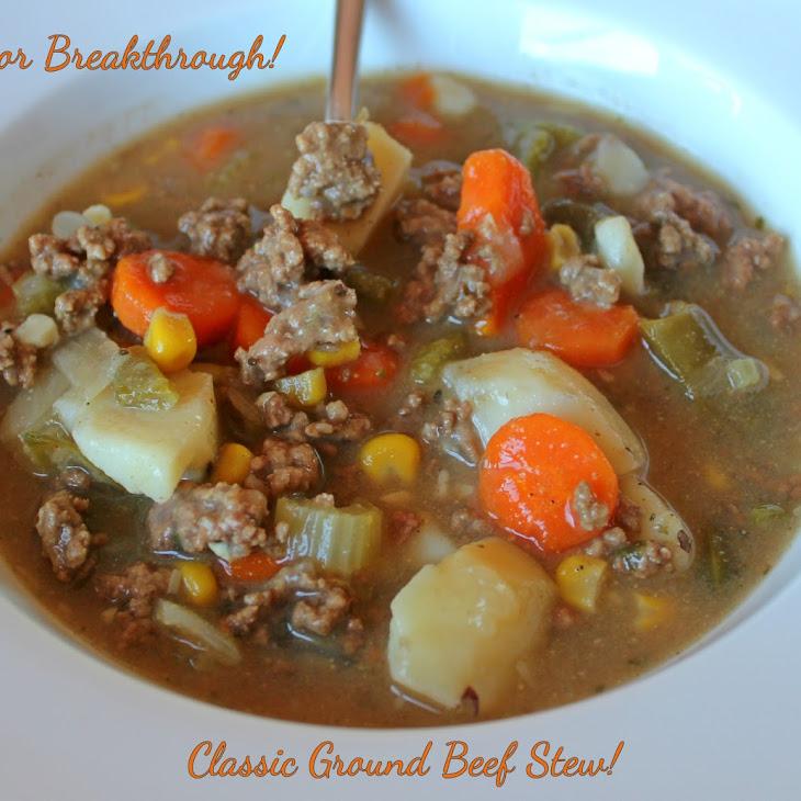 Classic Ground Beef Stew!