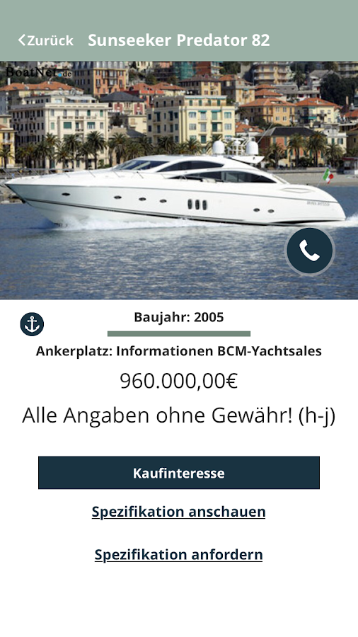 BCM – YACHTSALES- screenshot