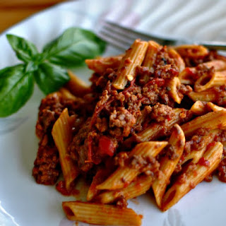 Slow Cooker Spicy Spaghetti.