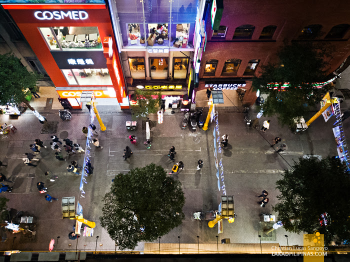 Ximending From Ximen Wow Hostel Balcony