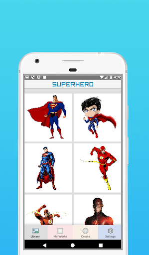 Superhero Coloring By Number - Pixel Art 1.5 screenshots 3