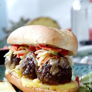Aloha Meatball Sub Sandwiches