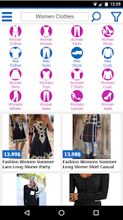 clothes shopping online- screenshot thumbnail