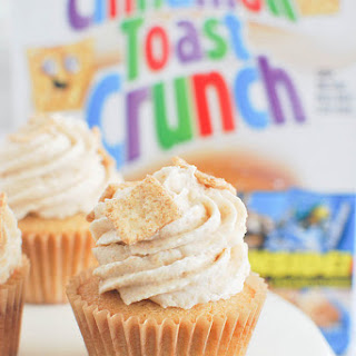 Cinnamon Toast Crunch Cupcakes.