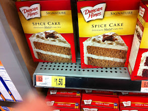 Photo: Spice Cake is my favorite. I have a two ingreident pumpkin cookie recipe that calls for this box cake.