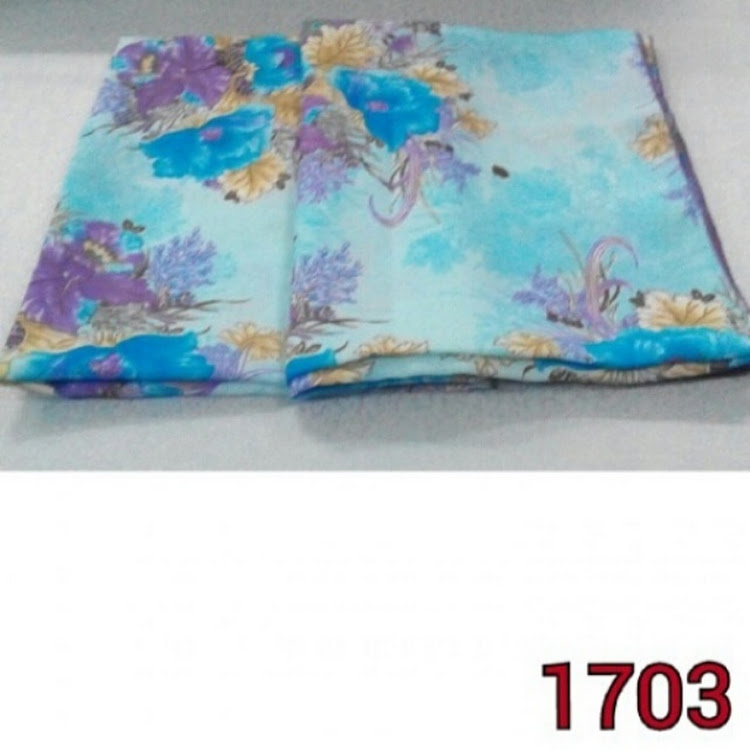 1703 roses square scarf blue/purple by PF LIMITED