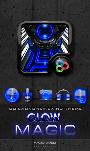 GO Launcher Theme Blue Magic