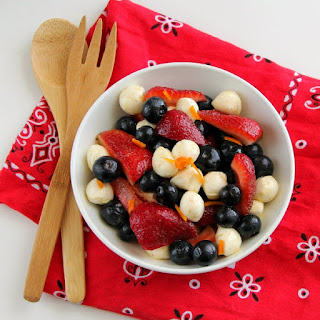 Red, White and Blue Fruit and Cheese Salad
