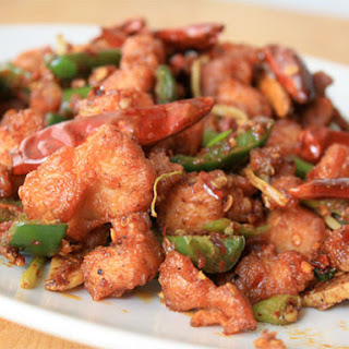 Sichuan Chicken with Peppercorns and Chiles.