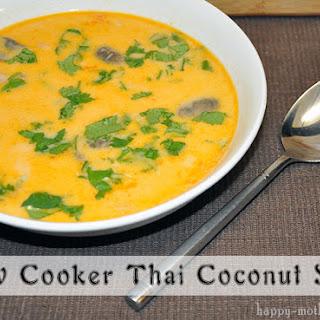Slow Cooker Thai Coconut Soup.