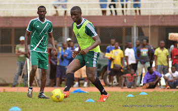 Photo: Rodney Strasser and Sulaiman Sesay [Training Camp ahead of Leone Stars v Swaziland Game on 31 May 2014 (Pic: Darren McKinstry)]