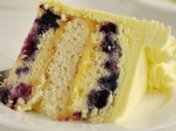 Triple Lemon Blueberry Layer Cake Recipe