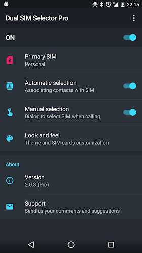 Dual SIM Selector Pro 2.0.7 APK