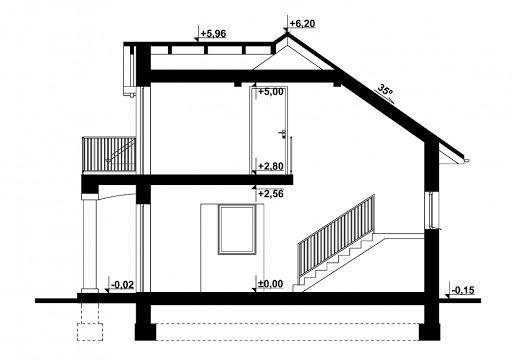 G344 - Budynek rekreacji indywidualnej - Przekrój