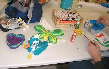 Photo: Student Papier Mache projects.