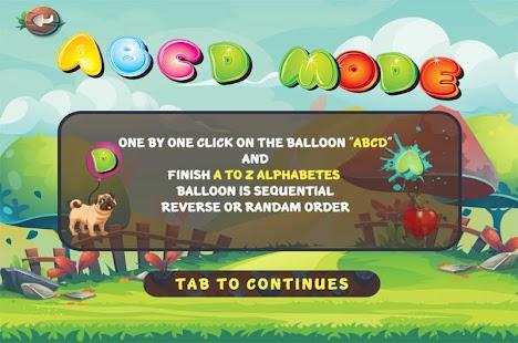 play an abc balloon game